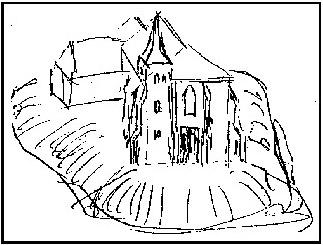 Návay László vázlata a templom átalakításáról (1923.)